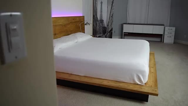 Watch and share DIY Platform Bed With Floating Night Stands GIFs on Gfycat