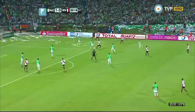 Watch and share Gol De Pisculichi. Atlético Nacional 1 - River 1   Final Copa Sudamericana (ida) GIFs on Gfycat