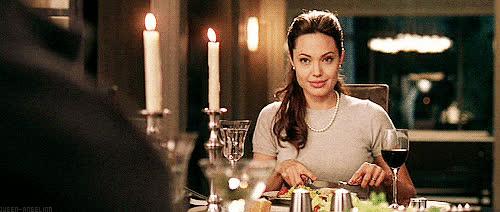 angelina jolie, dinner, Dinner GIFs