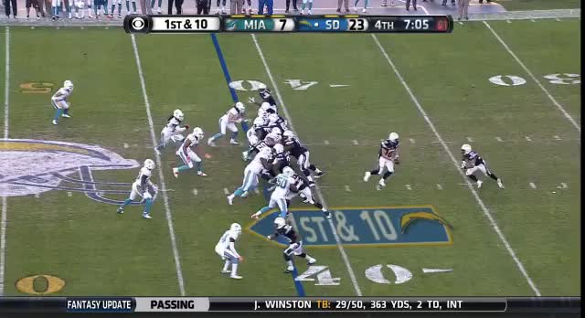 Watch and share Donald Brown 53-yard Run GIFs by kevinrduffy on Gfycat