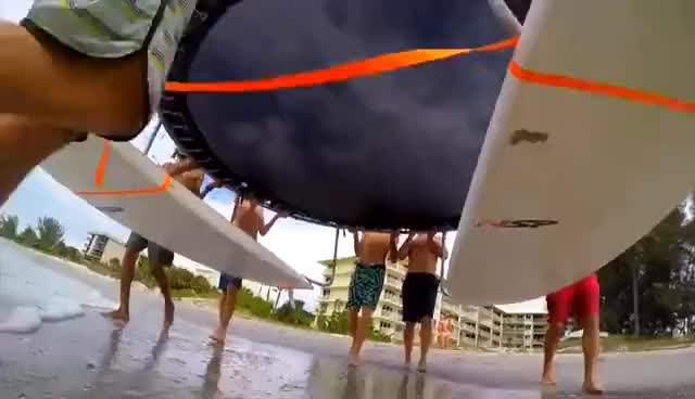 Watch and share TRAMPOLINE SURFING IN A HURRICANE!!! GIFs on Gfycat