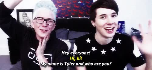 Watch and share Tyler Oakley GIFs and Dan Howell GIFs on Gfycat