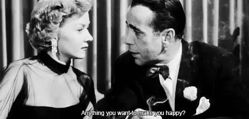 Watch In a Lonely Place (1950) GIF on Gfycat. Discover more 1950, 1950s, 50s, MY GIFS, b&w, black and white, bogart, bogie, bw, edits, gifs, gloria grahame, hollywood, humphrey bogart, in a lonely place, mine*, my edits, nicholas Ray, old, old hollywood, vintage GIFs on Gfycat