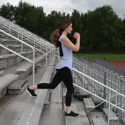 Watch and share 400x400 Stair Workout Bulgarian Split Squat GIFs on Gfycat