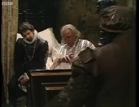 Watch and share Blackmailing The Bishop - Blackadder - BBC GIFs on Gfycat