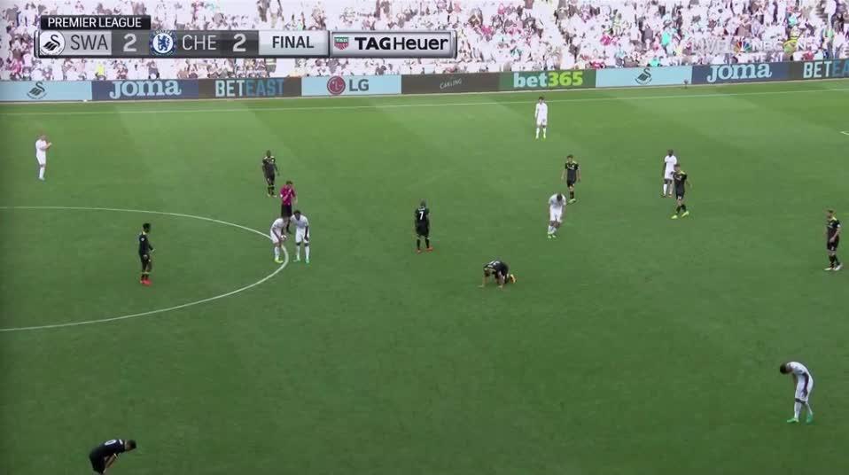 chelseafc, soccer, D. Costa 2nd goal vs Swansea (2-2) (reddit) GIFs