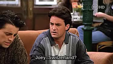 Watch and share Joey Tribbiani Gif GIFs and Chandler Bing Gif GIFs on Gfycat