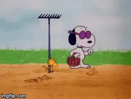 Watch and share Woodstock And Snoopy Planting Seeds. GIFs on Gfycat
