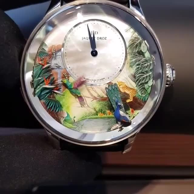 Watch and share Jaquet Droz, Tropical Bird Repeater In White Gold From The Automata Collection, Part Of Basel 2018 Novelties. Turn O GIFs by PM_ME_STEAM_K3YS on Gfycat