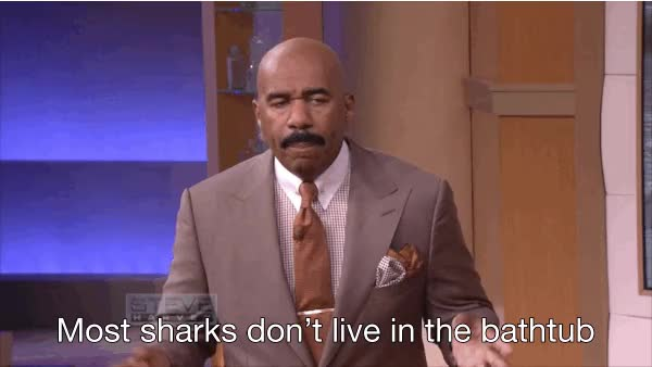 Watch and share Steve Harvey GIFs and Shark GIFs on Gfycat