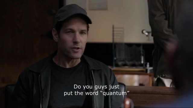 "Watch Antman-Do you guys just put the word ""quantum"" in front of everything? GIF on Gfycat. Discover more antman, antman and the wasp, celebs, paul rudd, quantum GIFs on Gfycat"