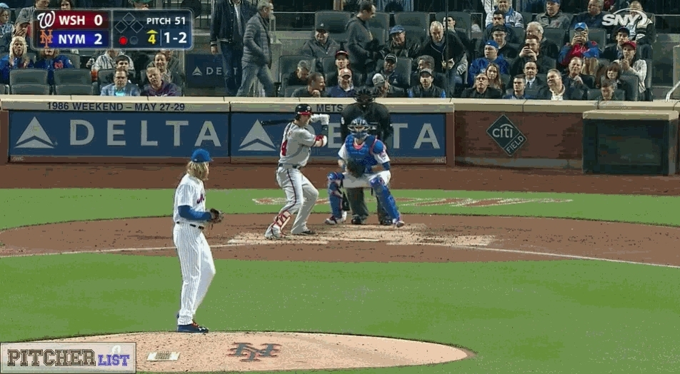 baseball, filthypitches, nba, [GIF] Noah Syndergaard perfectly spots a 100 MPH Fastball to punchout Bryce Harper (more GIFs in comments) (reddit) GIFs