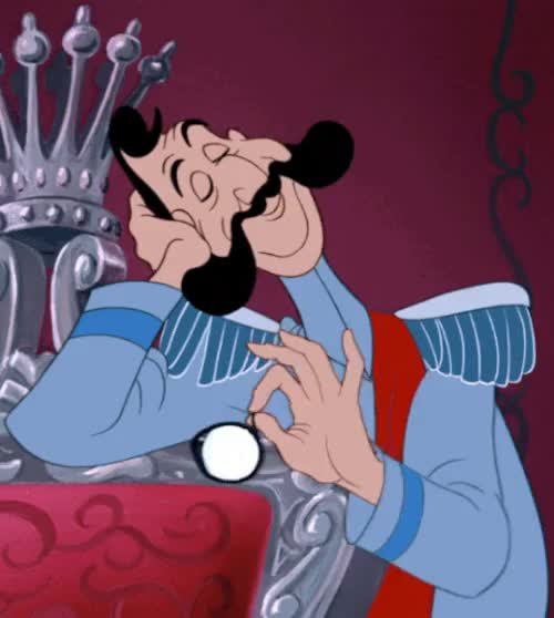 Watch Cinderella (1950) GIF on Gfycat. Discover more animation, cartoons, cinderella, cinderella gif, film, gif, monacle, my gif, the grand duke, yo-yo GIFs on Gfycat