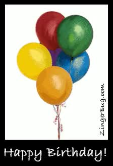 Watch and share Birthday Balloons GIFs on Gfycat