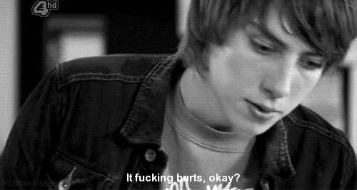 Watch and share Black And White, Generation 3, Love, Sad, Skins, Skins Rich, Skins Grace GIFs on Gfycat