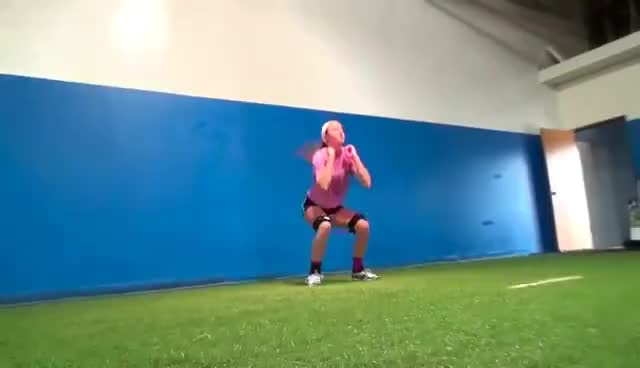 exercise, fitness, jump, squat, squat jumps, squats, Volleyball Drills - Plyometric Exercises for Volleyball Players GIFs