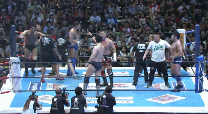 SquaredCircle, squaredcircle, [NJPW G1 FINALS SPOILERS] Team NJPW vs. Team NOAH GIFs