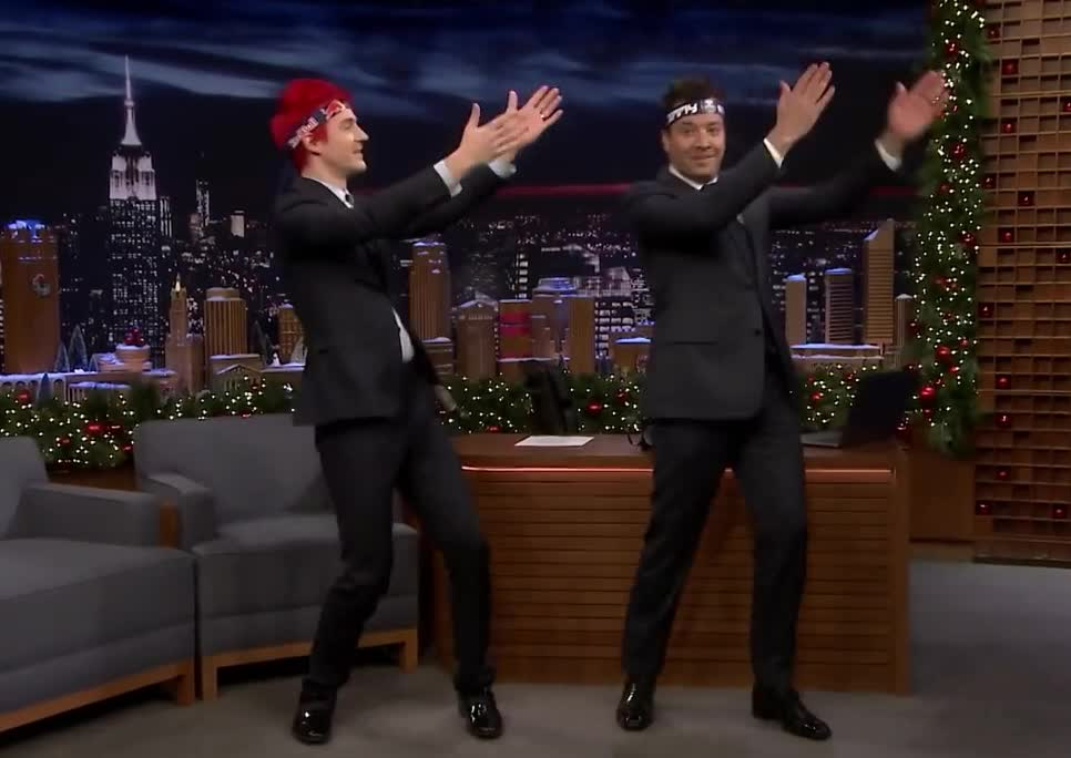 amazing, awesome, blevins, celebrate, dance, dancing, dumb, excited, fallon, funny, jimmy, lol, ninja, party, pon, pon pon, ponpon, silly, tyler, Tyler