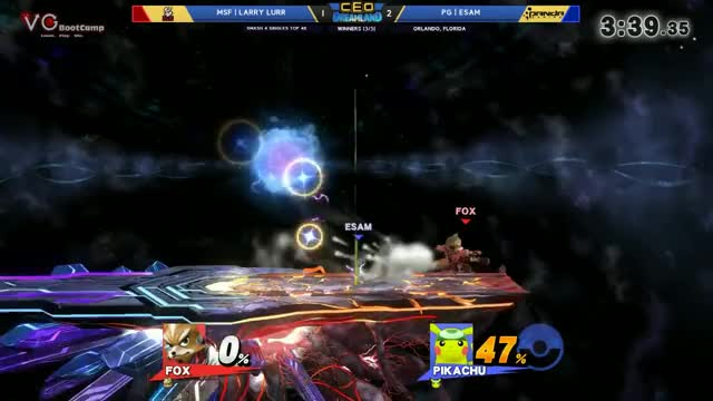 CEO Dreamland 2017 Smash 4 - MSF | Larry Lurr (Fox) Vs. PG | ESAM (Pikachu) SSB4 Winners Top 48