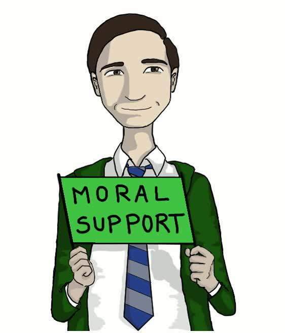 Watch and share Support Moral GIFs on Gfycat