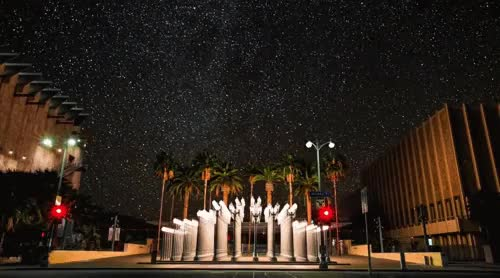 Watch Whoa! What if LA had starry skies? Stars of LACMA GIF on Gfycat. Discover more related GIFs on Gfycat