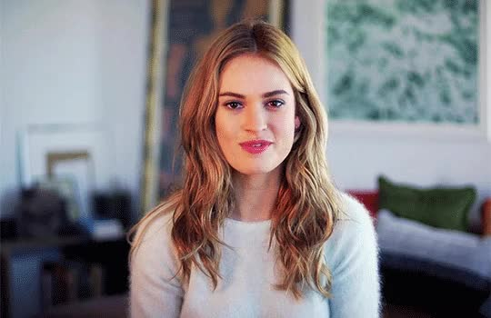 Watch and share Lily James GIFs and Celebrity GIFs on Gfycat