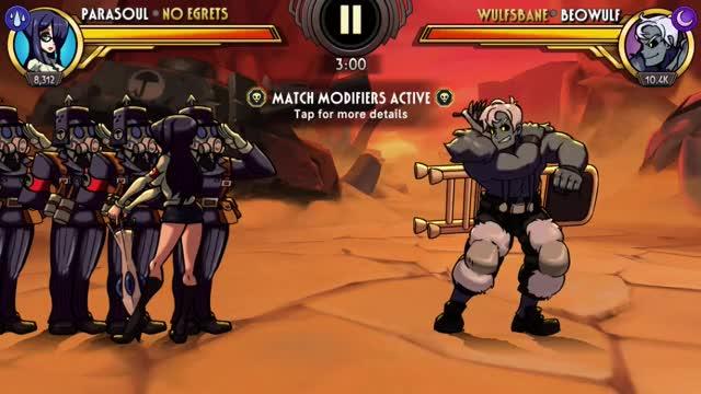 Watch and share Skullgirls Mobile - Peak Parasoul GIFs by moisterrific on Gfycat