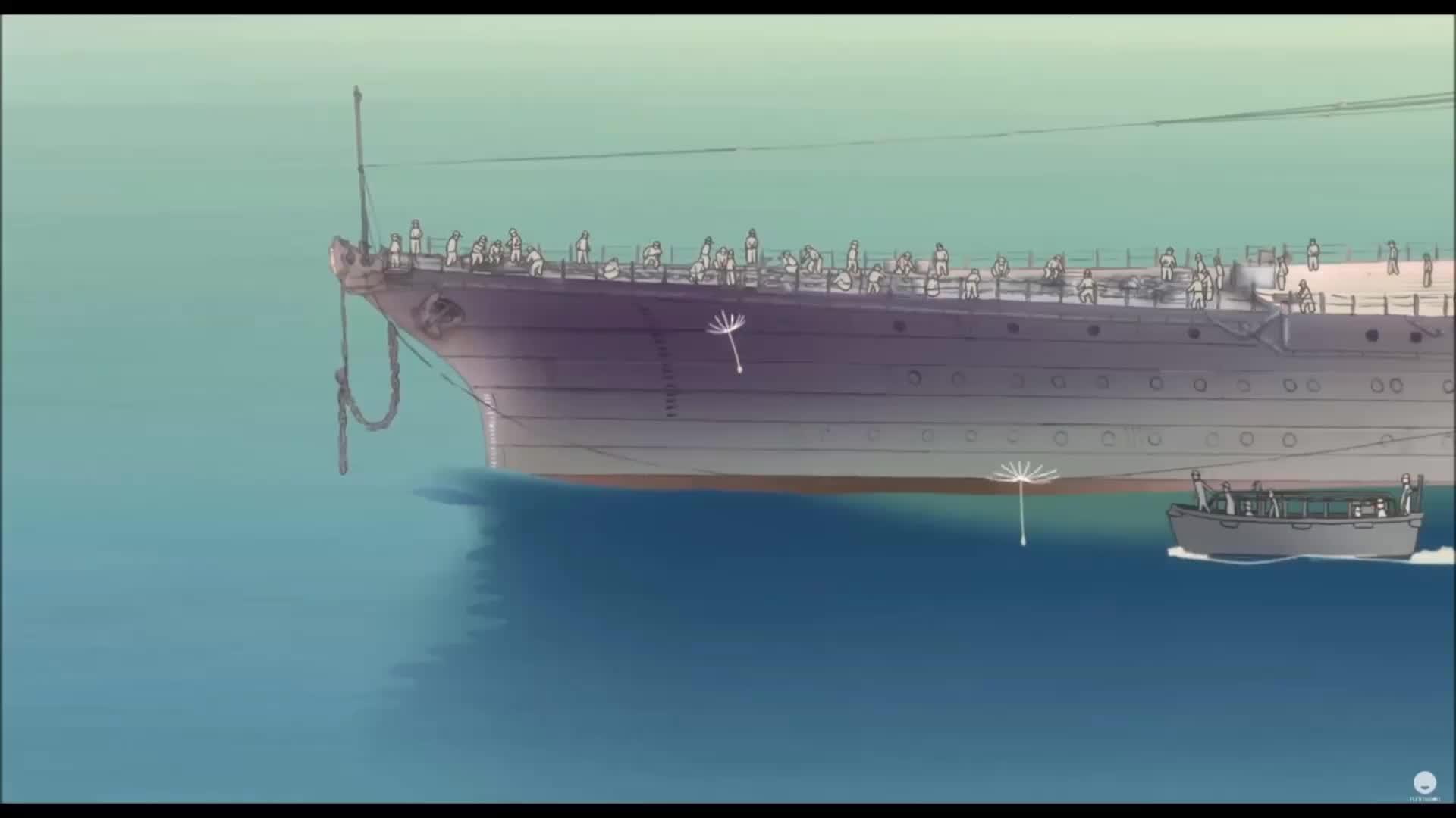 anime, funimation, in this corner of the world, inthiscorneroftheworld, kono sekai no katasumi ni, A closer look at the Yamato. GIFs