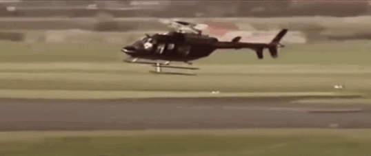 aviationgifs, This is how a helicopter taxis (rolls) to a runway (reddit) GIFs