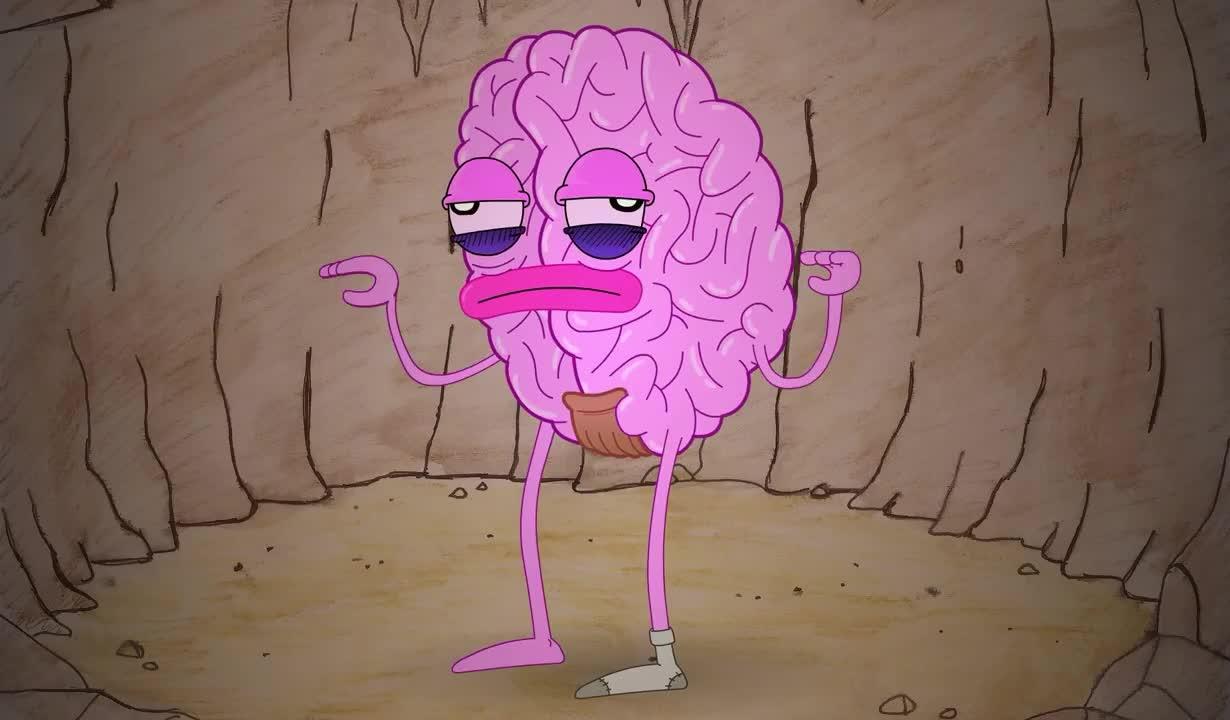 bored, boring, brain, cartoon, talk, words, Bored brain GIFs
