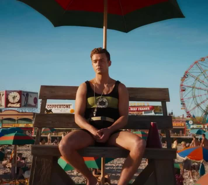 amazon, beach, bored, cute, disappointed, film, justin, love, pff, sea, summer, think, timberlake, tired, umbrella, vacation, wait, waiting, wheel, wonder, Wonder Wheel – Official Trailer GIFs