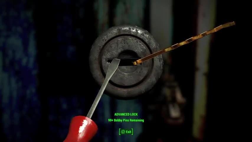 lockpicking, really, fallout lock picking GIFs