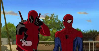 Watch and share Spiderman Peter Parker Deadpool Wade Wilson Favim Com GIFs on Gfycat