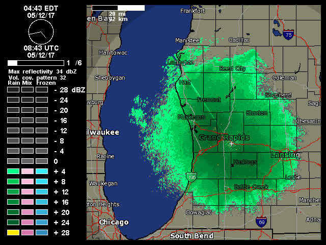 Animated Real Time Grand Rapids NEXRAD Radar From Weather Underground