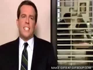 Watch and share Andy Bernard Kit Kat Song GIFs on Gfycat