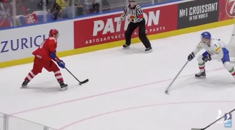 Evgeny Kuznetsov's first goal at 2019 IIHF GIFs