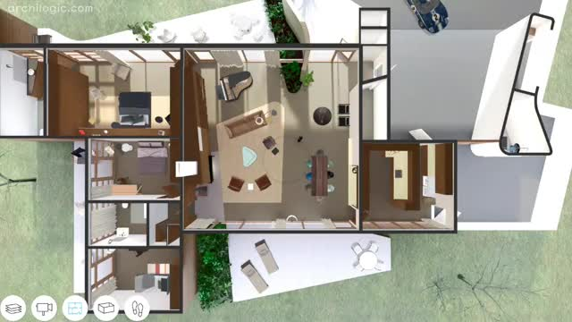 a virtual look inside the case study house 2 by sumner spaulding and john rex