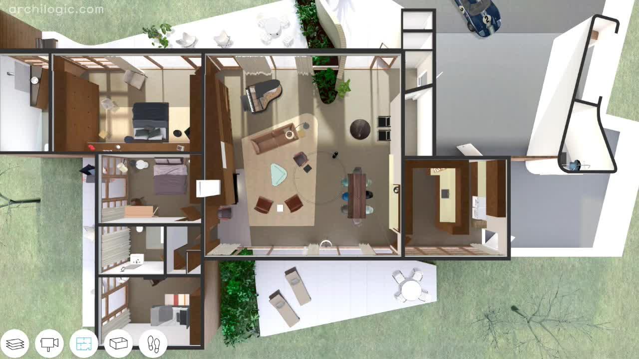 Case Study House 2 Gif By Archilogic