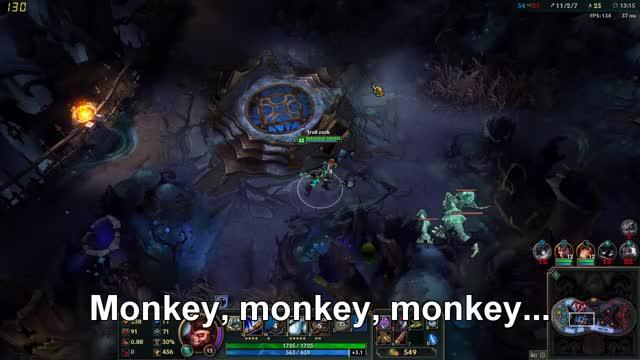 Watch Monkey, monkey, monkey... GIF on Gfycat. Discover more hexakill, league, wukong GIFs on Gfycat