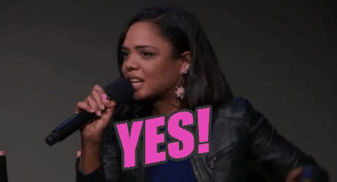 Watch and share Tessa Thompson GIFs and Yes GIFs on Gfycat