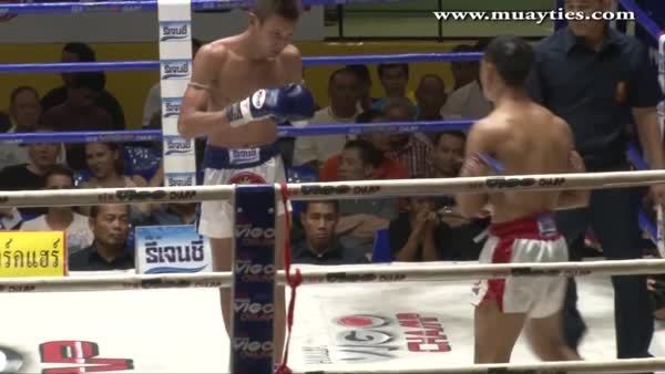 MuayThai, mmagifs, [GIF] Sam A destroys Bangpleenoi with a picture perfect combination (reddit) GIFs