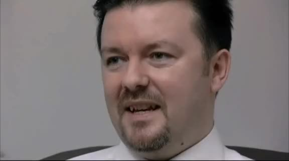 ricky gervais, when I see EditingAndLayout slam the UK version of The Office and talk smack about the next Gif Tournament : HighQualityGifs GIFs