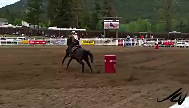 Watch and share Barrel Racing GIFs on Gfycat