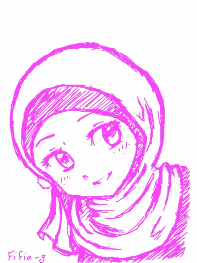 Watch Cute Manga Muslimah Animation GIF on Gfycat. Discover more related GIFs on Gfycat