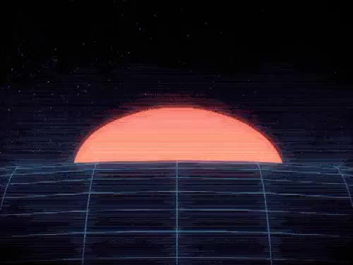 Watch 4.18.15 - Break Of Dawn GIF on Gfycat. Discover more 1980s, 80s, c4d, cinema4d, computergraphics, everydays, gif, grain, lines, loop, motion, motiongraphics, neon, noise, oneaday, projectaday, retro, scanlines, sunset, vhs GIFs on Gfycat