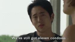 Steven Yeun, Thewalkingdead, glenn, laurencohan, maggie, stevenyeun, The walking DeadGlenn& Maggie GIFs