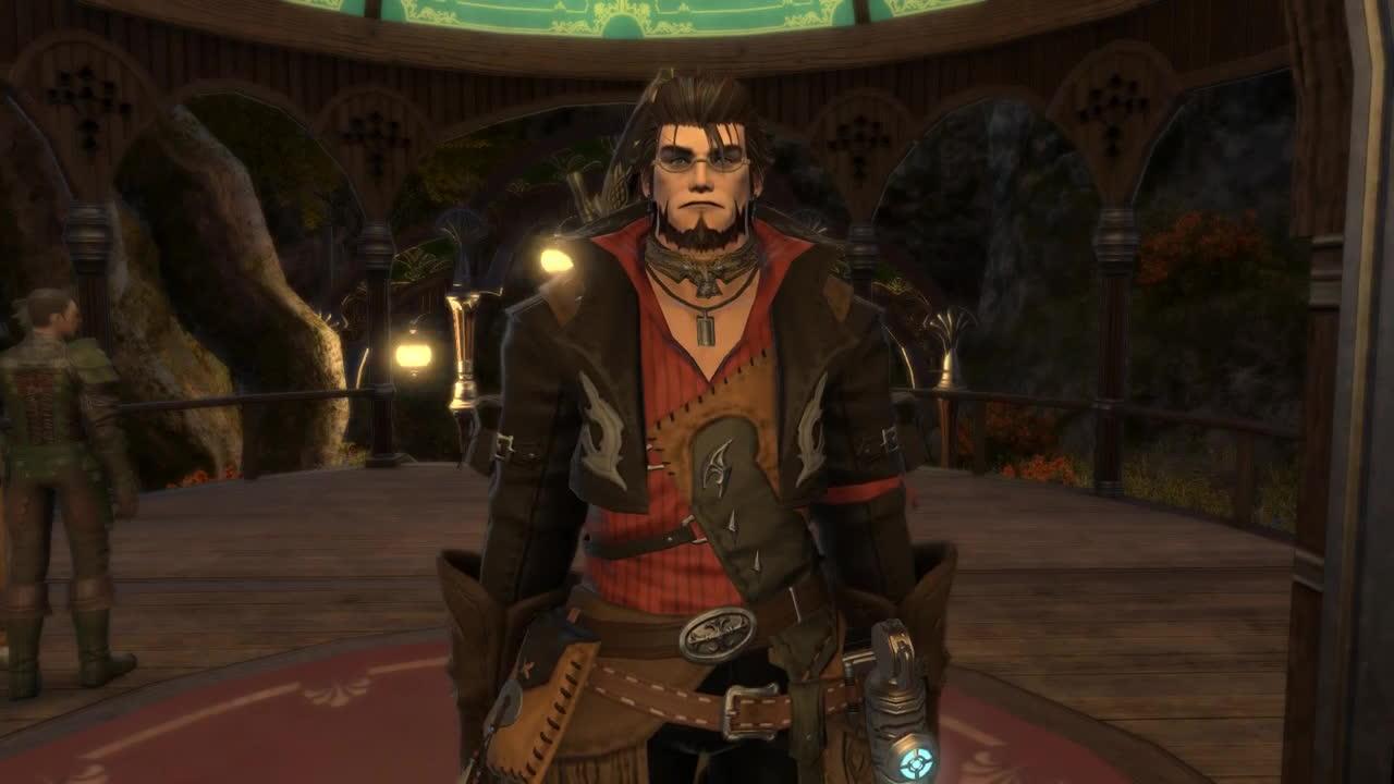 FFXIV Male Highlander Spectacle Emote