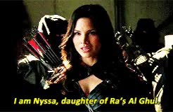 Watch and share Nyssa Al Ghul GIFs and Katrina Law GIFs on Gfycat