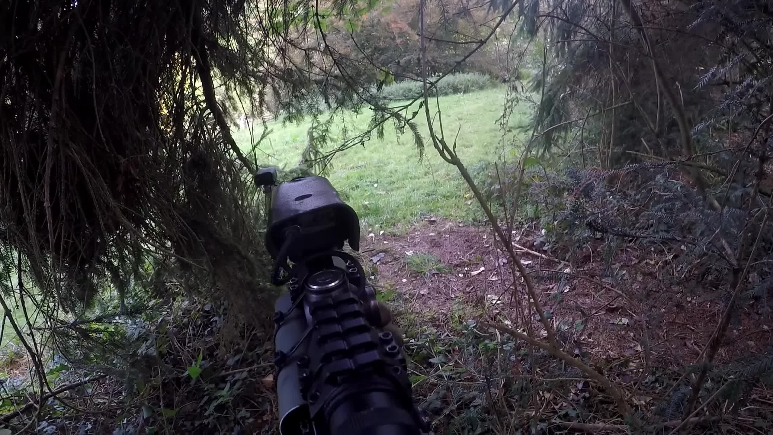 airsoft, airsoft war, cheater, gameplay, scopecam, sniper, tree, airsoft snipin GIFs