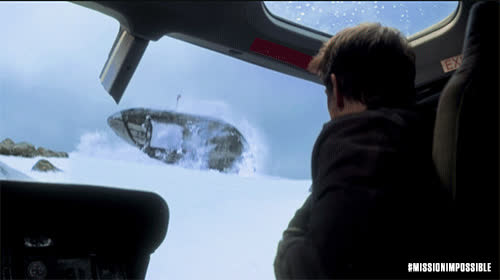 MissionImpossible360, action, blockbuster, epic, helicopter, m.i., mission: impossible, missionimpossible, movies, paramount pictures, tom cruise, Helicopter Coming at Tom GIFs